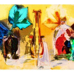 Christine Halbauer – Flaschen und Blätter